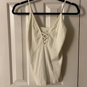 Intimately by Free People Off White Ribbed Cami